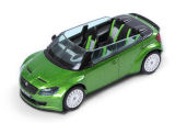 RS 2000 Concept car - 1/43 GREEN metallic diecast model - Abrex/Skoda Auto,a.s. with 60% DISCOUNT  Click to view details.