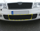 Octavia II 04-08 RS - OEM front bumper center grille part Click to view details.