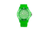 Women´s FLUORESCENT GREEN silicone watch - official Skoda collection Click to view details.