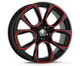 20´ wheel set XTREM (black/red) original Skoda Auto,a.s. Click to view details.