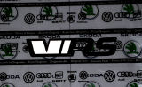 Roomster -emblem for the rear trunk - from the 2020 for Kodiaq RS - MONTE CARLO BLACK (F9R) - GLOW W Click to view details.