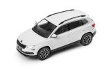 Karoq - 1/43 metallic diecast model - official Skoda Auto,a.s. product - MOON WHITE (S9R) Click to view details.