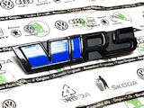 Fabia III - Original Skoda FRONT emblem RS from the limited RS230 edition - BLACK (F9R)- GLOW BLUE Click to view details.