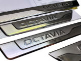 Octavia IV - original Skoda stainless steel door sill covers - OCTAVIA Click to view details.