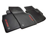 Octavia IV - floor mats RUBBER (heavy duty), original Skoda Auto,a.s. product - RED LOGO - LHD Click to view details.