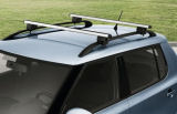 Fabia II Hatchback - original Skoda crossbar carrier Click to view details.