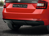 Rapid SpaceBack - genuine Skoda rear bumper diffusor MONTE CARLO - PAINTED (BLACK MAGIC F9R) Click to view details.