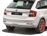 Rapid SpaceBack - genuine Skoda rear bumper diffusor STYLE Click to view details.