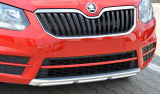 Yeti facelift CITY 14+ OEM Skoda front bumper center lid cover - RED LINE Click to view details.
