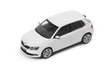 Fabia III - 1/43 CANDY WHITE metallic diecast model - Abrex/Skoda Auto,a.s. Click to view details.