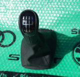 Fabia I - original Skoda luxurious LEATHER complete shifter BLACK - 5M Click to view details.