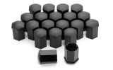 Bolt cap set - Original Skoda product - MATT BLACK - Long Click to view details.