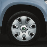 Yeti - OEM wheel covers ´COLD´ for steel 6J x 16 rims Click to view details.