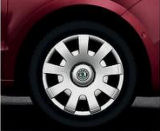 Yeti - OEM wheel covers ´TEMPEL´ for steel 6J x 16 rims Click to view details.