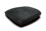 Octavia III - genuine black perforated ALCANTARA jumbo box cover - WHITE weave Click to view details.