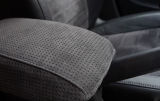 for Octavia III - genuine black perforated ALCANTARA jumbo box cover Click to view details.