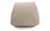 Octavia III - original Skoda Auto,a.s. real LEATHER headrest cover - BEIGE Click to view details.