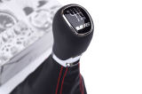 Octavia III - complete shifter with RED stitching for RHD cars Click to view details.
