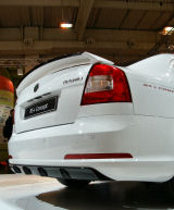 for Octavia II RS 04-13 - rear spoiler add-on diffusor RS+ CONCEPT V1 - from ABS plastic Click to view details.