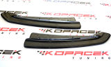 for Superb III - ABS plastic rear bumper side corner spoiler set - CARBON LOOK Click to view details.