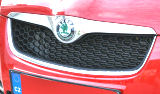 for Fabia II 07-10 - sportive grille with RS 2010 honeycomb design Click to view details.