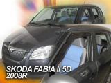 for Fabia Combi II 08-10 - FRONT/REAR windows wind/rain deflector set Click to view details.