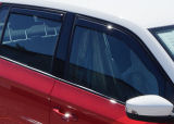for Fabia III hatchback - FRONT/REAR wind/rain deflector set Click to view details.