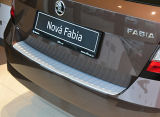for Fabia III hatchback - rear bumper protective panel Martinek Auto - ALU LOOK Click to view details.