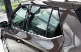 Fabia III hatchback - massive stainless steel CHROME window trim set Click to view details.