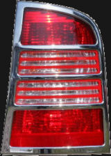 for Octavia Combi 01-07 facelift - chromed tail light covers ABS DYNAMIC Click to view details.