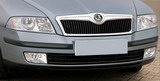 for Octavia II - front grille spoiler CHROME Click to view details.