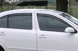 for Octavia II 04-13 - FRONT/REAR wind/rain deflector set Click to view details.
