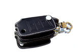 for Octavia III - BLACK leather protective case for your OEM key - with WHITE stitching - OCTAVIA Click to view details.