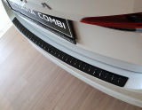 for Octavia IV Combi - rear bumper protective panel by Martinek Auto -  GLOSSY BLACK Click to view details.