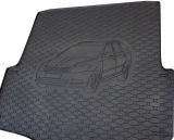 for Octavia II Combi - heavy duty rubber rear trunk cargo floor mat - with car silhouette Click to view details.