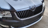 for Superb II -front upper grille lid-painted in original Skoda colour ANTHRACITE GREY (F8J)-MONTE C Click to view details.