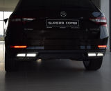 for Superb III - original Martinek auto exhaust-like spoilers - ALU - GLOWING WHITE Click to view details.