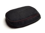 Scala - genuine black perforated ALCANTARA armrest cover - RED weave Click to view details.