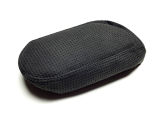 Scala - genuine black perforated ALCANTARA armrest cover - BLACK weave Click to view details.