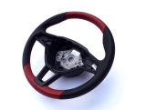 Octavia III - original 3-spoke steering wheel with custom PERFORATED LEATHER / RED design Click to view details.