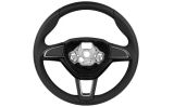 Superb II Facelift 2013-2015 - original Skoda leather 3-spoke performance steering wheel Click to view details.