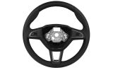 Superb II Facelift 2013-2015 - original Skoda leather 3-spoke performance MF steering wheel Click to view details.
