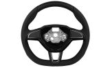 for Superb II FL - original Skoda perforated leather 3-spoke steering wheel - 2015 flat bottom versi Click to view details.
