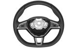 Superb II FL - original Skoda MF perforated leather 3-spoke steering wheel -2015 flat bottom version Click to view details.