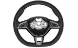 Superb II FL original Skoda MF perforated leather RS steering wheel 2015 flat bottom version SILVER Click to view details.