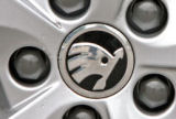 Fabia II - center wheel caps with new 2012 logo - original Skoda Auto,a.s. Click to view details.