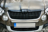 Skoda Yeti - front grille badgeless cover KI-R with OEM clip system - FULL REPLACEMENT grille Click to view details.